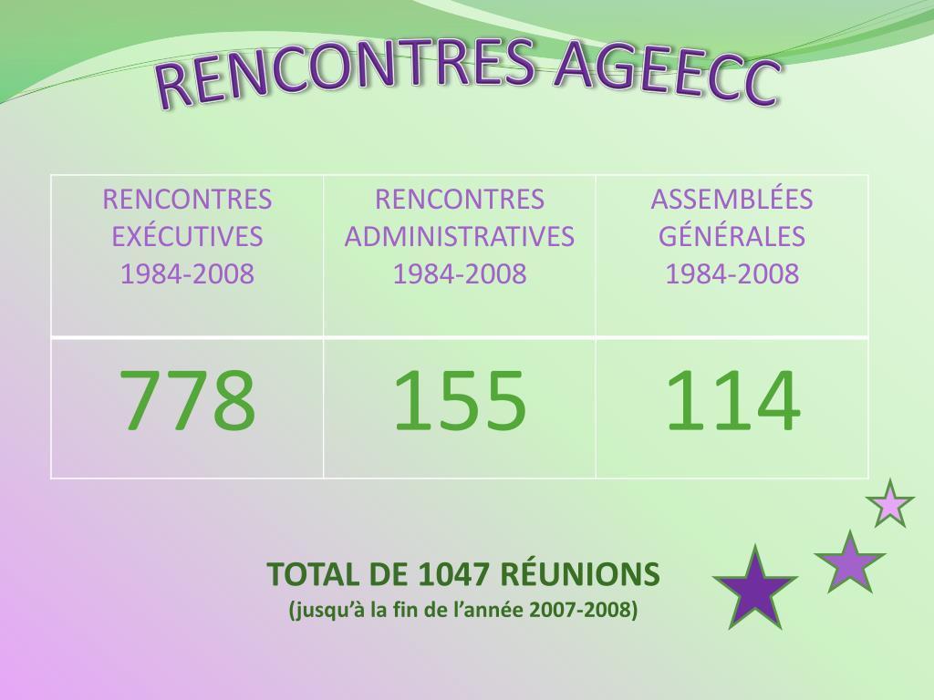 RENCONTRES AGEECC