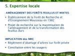 5 expertise locale