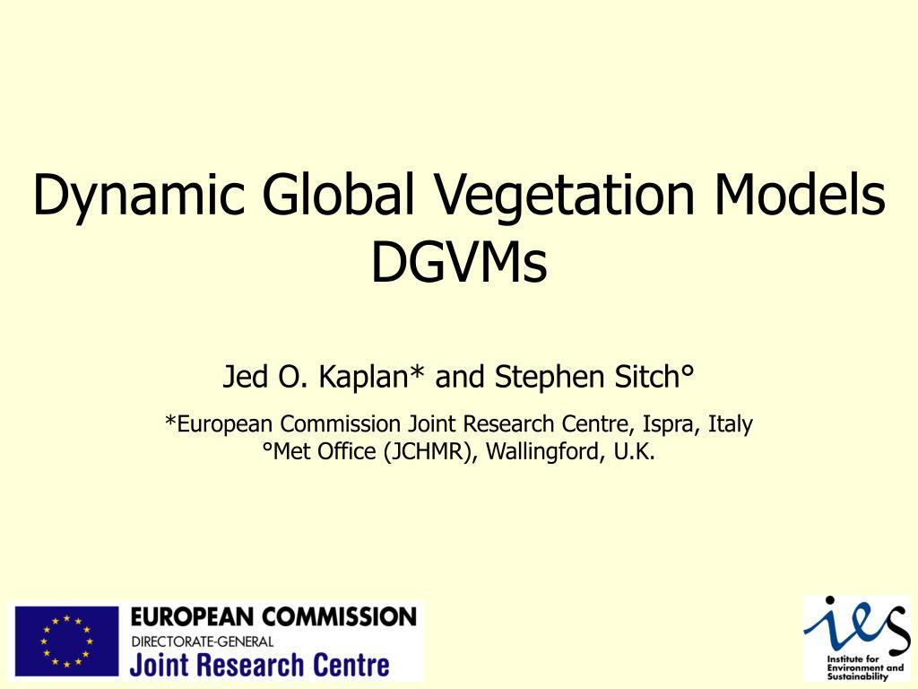 dynamic global vegetation models dgvms l.