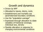growth and dynamics