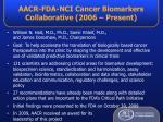 aacr fda nci cancer biomarkers collaborative 2006 present