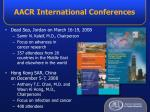 aacr international conferences