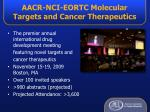 aacr nci eortc molecular targets and cancer therapeutics