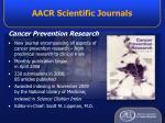 aacr scientific journals