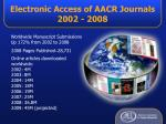 electronic access of aacr journals 2002 2008