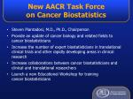 new aacr task force on cancer biostatistics
