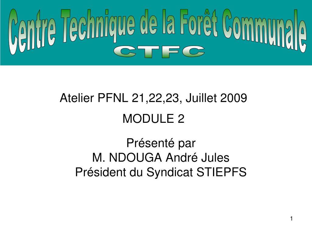 atelier pfnl 21 22 23 juillet 2009 module 2 l.