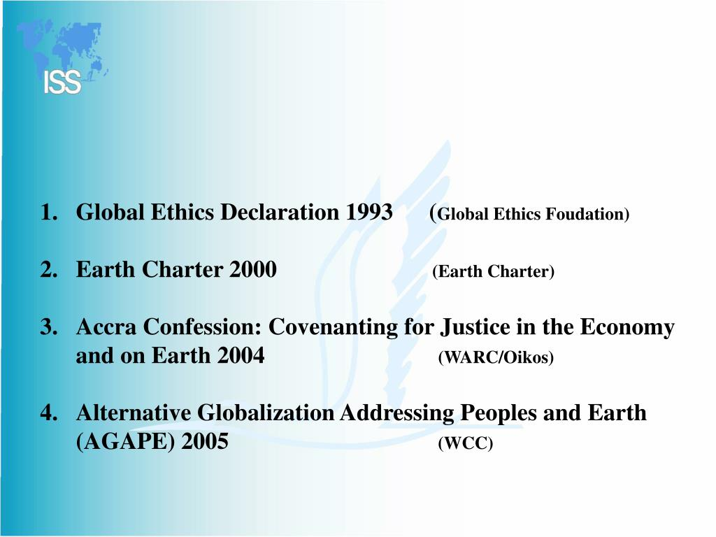 Global Ethics Declaration 1993      (