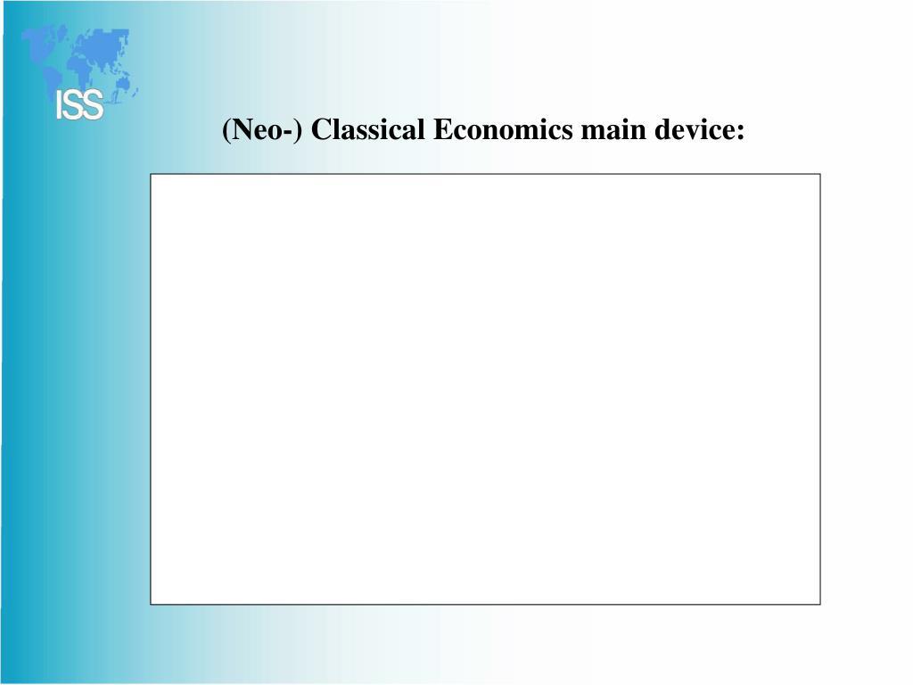 (Neo-) Classical Economics main device: