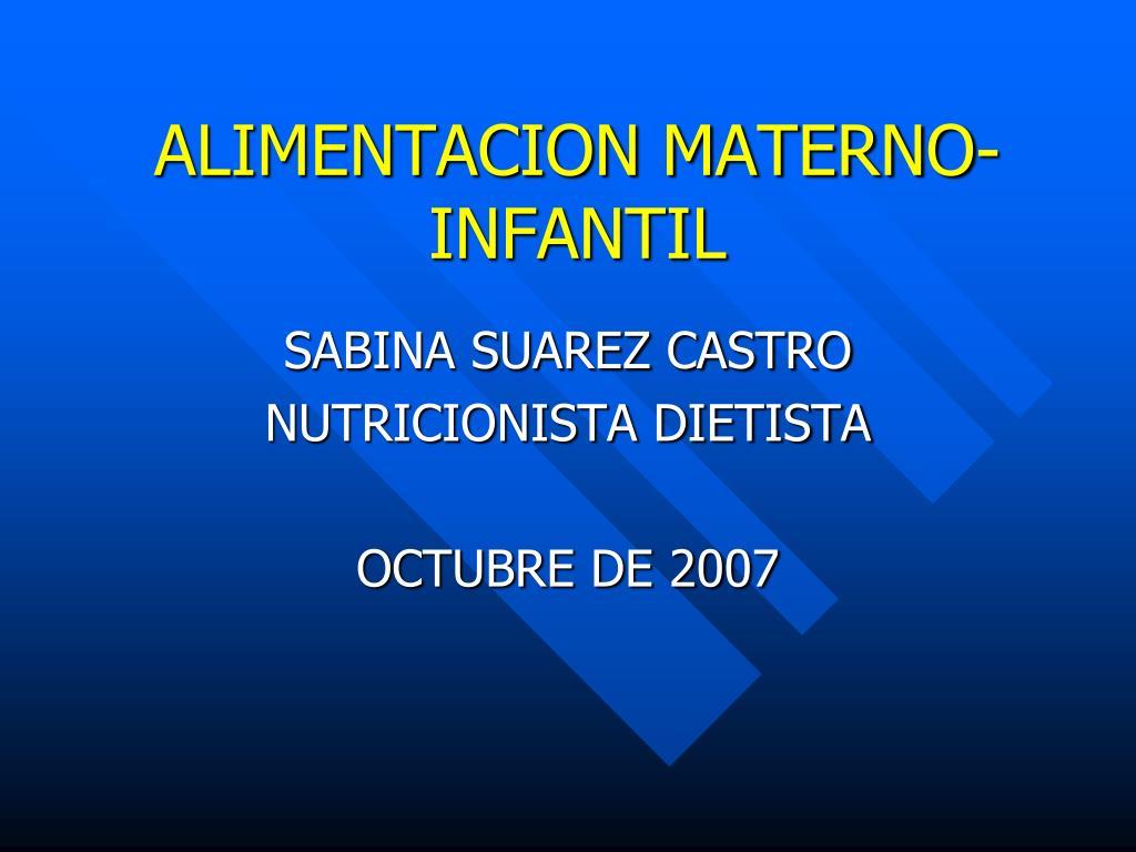 alimentacion materno infantil l.