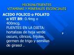 micronutrientes vitaminas y minerales escenciales