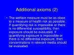 additional axioms 2