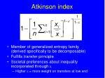 atkinson index