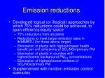 emission reductions