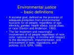 environmental justice basic definitions