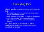evaluating gini