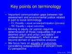 key points on terminology