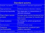 standard axioms