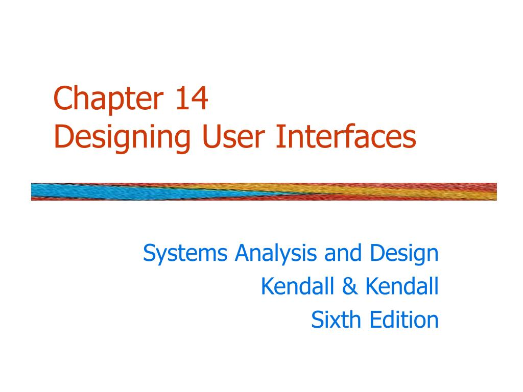 chapter 14 designing user interfaces l.