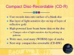compact disc recordable cd r
