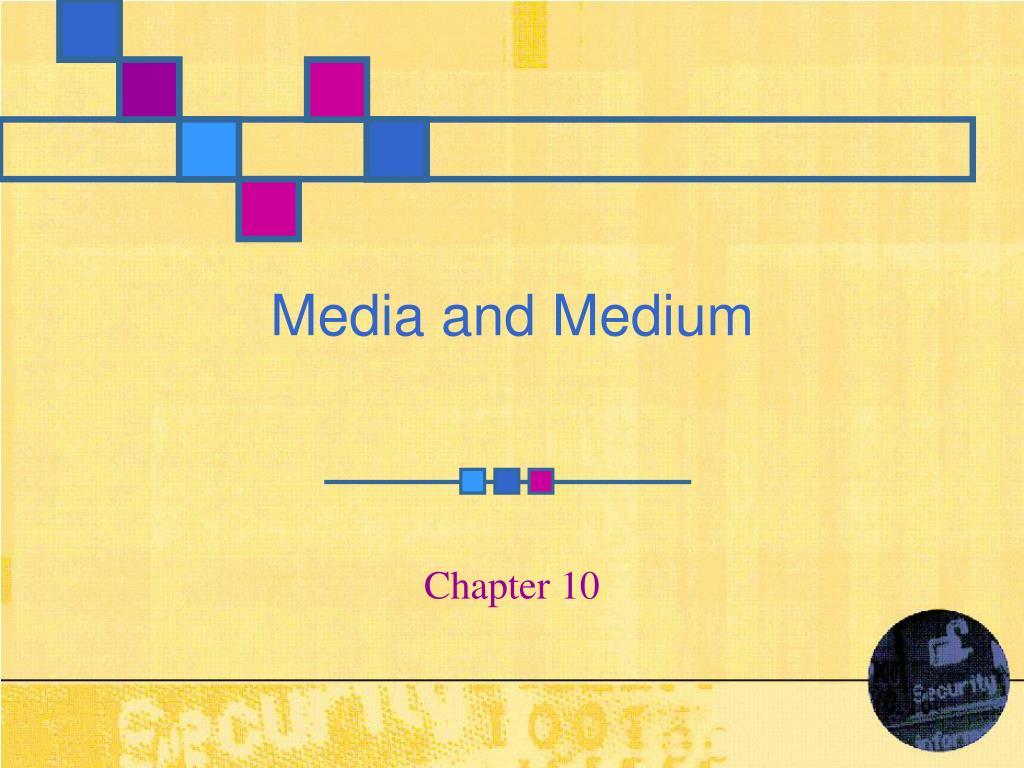media and medium l.