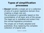 types of simplification processes5
