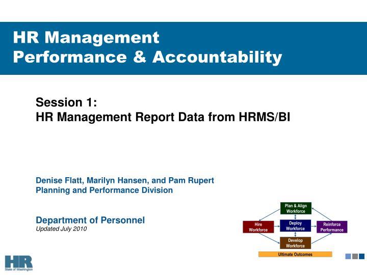 hr management performance accountability n.