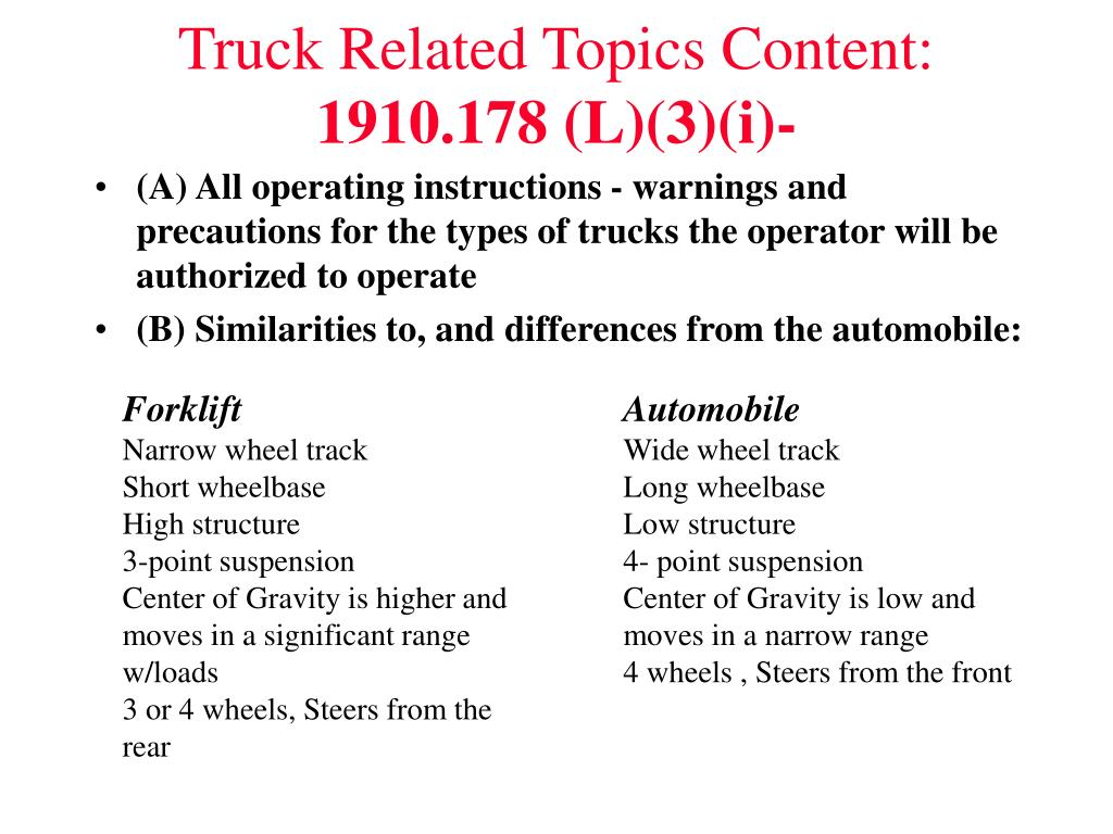 Truck Related Topics Content: