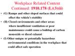 workplace related content continued 1910 178 l 3 ii