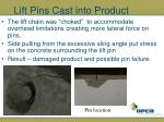 lift pins cast into product24