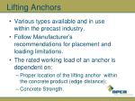 lifting anchors