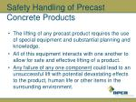 safety handling of precast concrete products