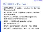 iso 20000 the past