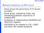 related initiatives at iso level