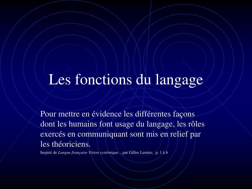les fonctions du langage l.