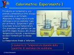calorimetria esperimento 1