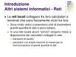 introduzione altri sistemi informatici reti40