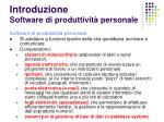 introduzione software di produttivit personale