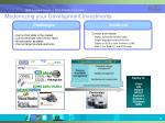 modernizing your development investments