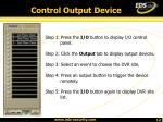 control output device