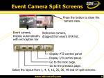 event camera split screens