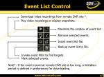 event list control