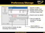 preference storage