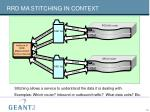 rrd ma stitching in context