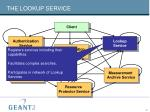 the lookup service
