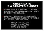 crash data is a strategic asset