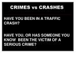 crimes vs crashes