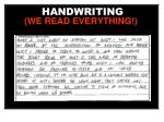 handwriting we read everything