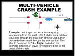 multi vehicle crash example