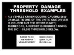 property damage threshold examples